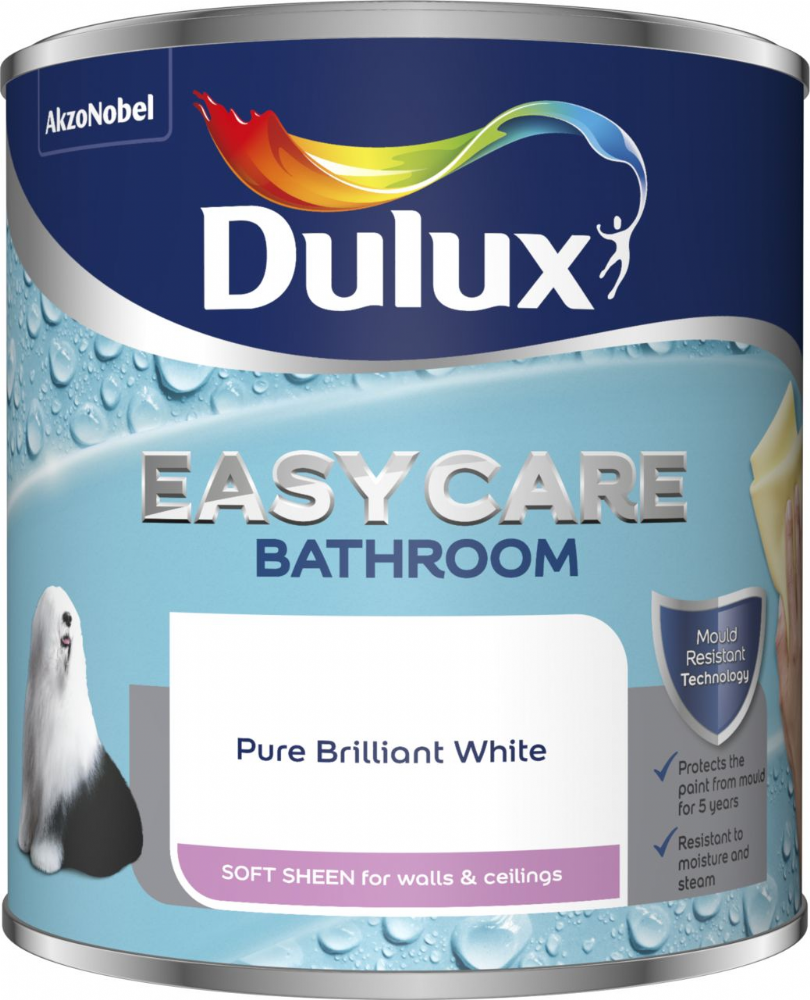 Dulux Easycare Bathroom Soft Sheen Pure Brilliant White